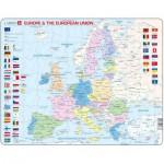 Larsen-K63-GB Rahmenpuzzle - Europa (auf Englisch)