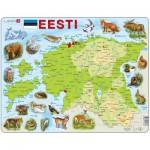 Larsen-K66 Rahmenpuzzle - Karte von Estland (auf Estnish)
