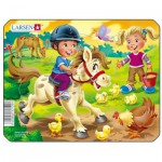 Larsen-Z11-3 Rahmenpuzzle - Zu Pferde