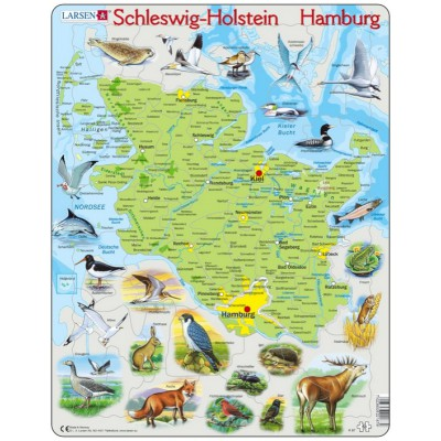 rahmenpuzzle schleswig holstein hamburg larsen k87 de. Black Bedroom Furniture Sets. Home Design Ideas