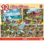 Master-Pieces-31535 12 Puzzles - Alan Giana