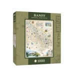 Puzzle  Master-Pieces-71709 Xplorer Maps - Banff, Canada