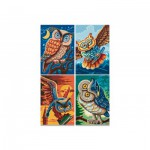 Puzzle  Noris-6060-38021 4 x 200 Teile - Vogel der Weisheit
