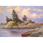 Puzzle  Cobble-Hill-51014 Douglas Laird - Red Canoe