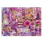 Puzzle  Cobble-Hill-51866 Shelley Davies: Purple