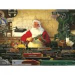 Puzzle  Cobble-Hill-52022 XXL Teile - Tom Newsom: Die Modelleisenbahn des Weihnachtsmannes