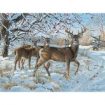 Puzzle  Cobble-Hill-52083 XXL Teile - Persis Clayton Weirs - Winter Deer