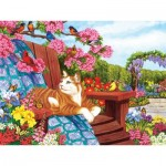 Puzzle  Cobble-Hill-54342 XXL Teile - Nancy Wernersbach - Spring Fling