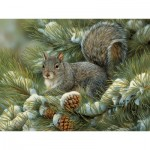 Puzzle  Cobble-Hill-54348 XXL Teile - Rosemary Millette - Gray Squirrel