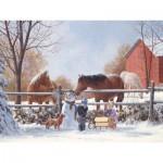 Puzzle  Cobble-Hill-54566 Douglas Laird: Frosty und seine Freunde