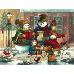 Puzzle  Cobble-Hill-54583 Janet Stever: Weihnachtslied