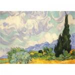 Puzzle  Piatnik-5391 Van Gogh Vincent: Weizenfeld mit Zypressen