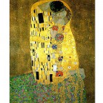 Puzzle  Piatnik-5575 Metallic - Klimt: Der Kuss
