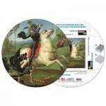 Pigment-and-Hue-RSTGEO-41304 Fertiges Rundpuzzle - Rafael: Der heilige Georg