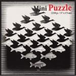 Puzzelman-831 Mini Puzzle - MC Escher - Air and Water
