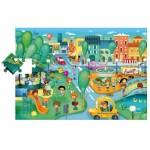 Ludattica-49806 Riesen-Bodenpuzzle - Die Stadt