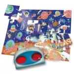 Ludattica-52493 XXL Teile - Secret Puzzle: The Space