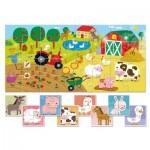 Ludattica-58198 XXL Teile - 9 Baby Puzzles: Der Bauernhof
