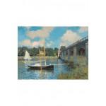Puzzle-Michele-Wilson-A246-500 Puzzle aus handgefertigten Holzteilen - Claude Monet: Brücke von Argenteuil