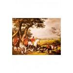 Puzzle-Michele-Wilson-A389-1000 Puzzle aus handgefertigten Holzteilen - Carle Vernet: Jagdszene im Wald von Fontainebleau