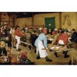 Puzzle aus handgefertigten Holzteilen - Brueghel der Ältere: Bauernhochzeit, 1567-1568