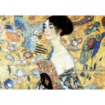Puzzle-Michele-Wilson-W515-100 Puzzle aus handgefertigten Holzteilen - Gustav Klimt - Dame mit Fächer