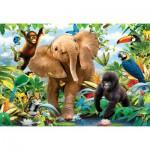 Ravensburger-05347 Riesen-Bodenpuzzle - Der Dschungel