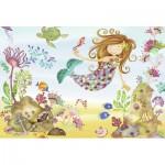 Ravensburger-05396 Riesen-Bodenpuzzle - Kleine Meerjungfrau