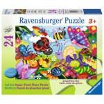 Ravensburger-05447 Riesen-Bodenpuzzle - Cute Bugs