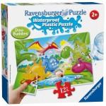 Ravensburger-05602 Wasserdichte Plastik Puzzle - Dinosaurier Freunde