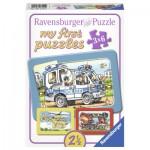Ravensburger-06115 My first Rahmenpuzzle - Feuerwehr, Polizei, Krankenwagen