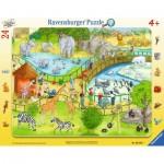 Ravensburger-06583 Rahmenpuzzle - Viel Spaß im Zoo