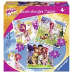 Ravensburger-07007 3 Puzzles - Mia & Me