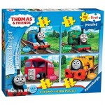 Ravensburger-07053 4 Puzzles - Thomas & Friends