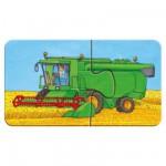 Ravensburger-07332 Puzzle 9 x 2 Teile Rahmenpuzzle - Fahrzeuge