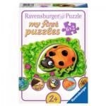 Ravensburger-07368 6 Puzzles - Wo die Tiere wohnen