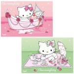 Ravensburger-09049 2 Puzzles - Hello Kitty