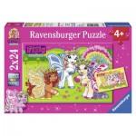 Ravensburger-09089 2 Puzzles - Märchenhafte Filly
