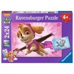 Ravensburger-09152 2 Puzzles - Paw Patrol