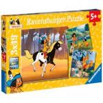Puzzle  Ravensburger-09389 Yakari Unterwegs