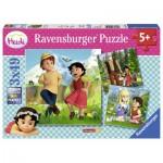 Ravensburger-09405 3 Puzzles - Heidi und ihre Freunde