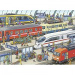 Puzzle  Ravensburger-09610 Moderner Bahnhof
