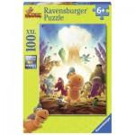 Puzzle  Ravensburger-10920 XXL Teile - Die Abenteuer vom kleinen Drachen Kokosnuss
