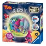Ravensburger-11796 3D Puzzle mit LED - Trolls
