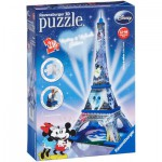 Ravensburger-12570 3D Puzzle - Mickey und Minnie Eiffelturm