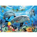 Puzzle  Ravensburger-13052 Der Tanz der Delfine
