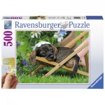 Puzzle  Ravensburger-13649 XXL Teile - Süßer Dackel