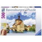 Puzzle  Ravensburger-13651 XXL Teile - Rathaus, Bamberg