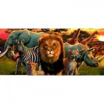 Puzzle  Ravensburger-14177 Afrikanische Safari
