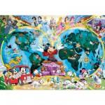 Puzzle  Ravensburger-15785 Disneys Weltkarte